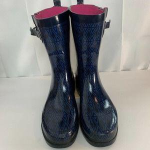 Capelli New York Rain Boots Buckle MidCalf Size 10